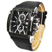 Trending of fashion Russian Brand BADACE 28CM Black genuine Leather Strap Rectangle dial man sport Military cuasual Quartz Watch