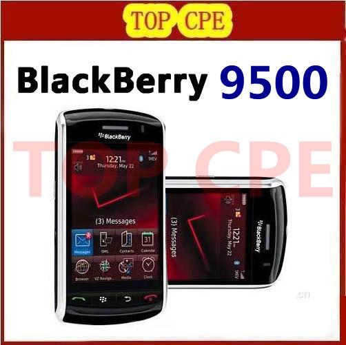 Refurbished 9500 Unlocked mobile Blackberry 9500 3G phone 1G Storage Bluetooth MP3 MP4 Player free shipping(China (Mainland))
