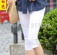 Hot sale Women's Plus Size Summer Slim waist candy color stretch Leggings capris fashion Pencil capris pants DY R96 G503 8050