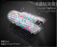 COOL Car styling 15.5CM*9.5CM DIY artificial diamonds sticker rhinestone sticker decoration sticker 3mm for car, mobile, PC,