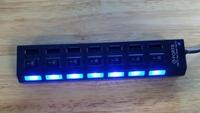 7 hub USB splitter usb2.0 high speed USB HUB 1 trailer 7 Hubs