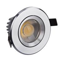 Free shipping 3W COB LED spotlight 75-80mm hole size 300LM HUGEWIN HSD641