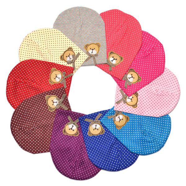 Unisex Cute Baby Toddler Infant Beanie Hat Cotton Cap 10 Colors 3-6 months cap(China (Mainland))