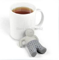 Mr. Tea Infuser Bathing Kids Shape Tea strainer Filter Teabags for Coffee Tea Leaves Silicone Drinkware Tools