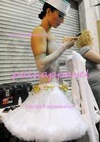 Soft Chiffon Women pettiskirt WHITE Fluffy Layers lady petticoat luxury tutu skirt