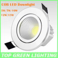 New COB LED Down Light 5W 7W 10W 12W 15W COB LED Ceiling Downlight Lamp 110V 220V 230V 240V Down Light Spot Lamparas LED COB