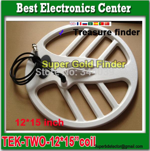 """commercio all'ingrosso terra rivelatore oro TEK-T2 più bianco bobina metal detector accessori 12 * 15 """" pollici bobina + trasporto libero(China (Mainland))"""