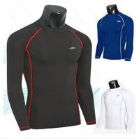 T-Shirt Men Polo Tights Dry Training Clothes Fitness T Shirt Black Clothing Styles Long Sleeve Clothing Camisetas Fashion 2014