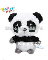 "Small size (3pcs/lot) - Yoohoo Friends Stuffed Plush Giant Panda toy - 5"" RingRing,Fabrics Stuffed big eyes soft Toy"