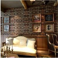 Vintage waterproof Red brick wallpapers KTV wine cellar TV  living room bedding  pvc wall paper roll  vinyl  ,free shipping