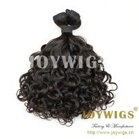 "2014 New Super 6a Quality 3pcs/lot #1b Virgin Brazilian Baby Curl Aunty Funmi Hair Extension Free Shipping 8""-30"" Mixed Length"