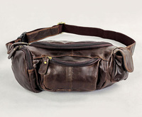 J.M.D 2014 New Most Popular Vintage Leather Design Fanny Wallet Belt Bag Purse Waist Pack Outdoor # 7144C