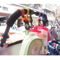 50PCS/lot Universal baby pram pushchair stroller hook shopping bag vector clip stroller car hook Suspension bracket hot sale