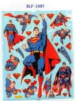 Free shipping  , SUPERMAN Wall sticker, cartoon sticker, 2PCS/LOT
