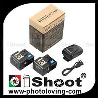 Radio Wireless Remote Control Hot Shoe Trigger PT-04 for Nikon Camera+Flash-2RX