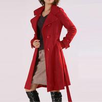 2014 Autumn Winter Women Plus Size 5XL Woolen Outerwear Coats Medium-long Wool Overcoat Big Size 2XL 3XL 4XL XXXXXL