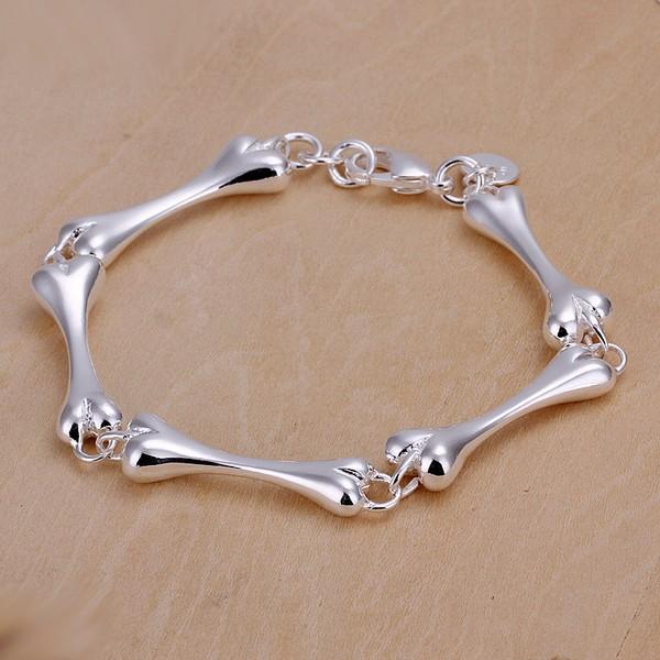 New Wholesale High Quality Fashion jewelry 925 Sterling Silver Bone Bracelet / bangle Free shipping H267(China (Mainland))