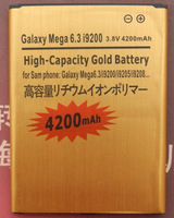 Free Shipping 4200mAh Golden High Capacity Lithium-ion Battery Replacement for Phone Samsung  Galaxy Note i9220 N7000