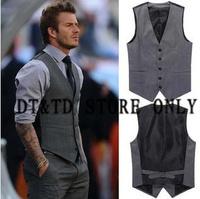 Free Shipping men's vest Beckham vest men's casual suit vest tank tops vest undershirt beer for men singlet  DV072