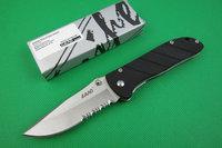 LAND 907 SANRENMU G10 Handle 3R15MOV 56HRC Coating Gray Titanium Blade Camping Tool Tactical Folding Pocket Knife Freeshipping