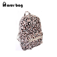 Free Shipping New EUR American Style Women Leopard  Printing Backpack ,Travel Bag, Casual School Bag with Zipper morer #422