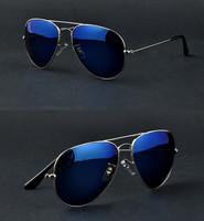 women's mens Full Blue Mirrored Aviator blue Sunglasses Dark Tint Lens Silver Frame UV400 BNWT fashion