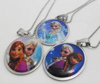 20pcs/lot Frozen Stainless Steel Pendant Necklace Fashion Jewelry Lots