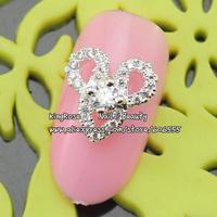 sh482 new zircon alloy nail art decorations wholesale 20pcs/lot  metal nail stickers nail rhinestone nail supplies free shipping