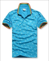Men's famous crocodile brand letter L printed polo shirts short sleeve T-shirt Sport shirt free shipping by china post.L