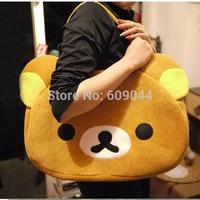Wholesale/retail High Quality Anime San-X Rilakkuma Cute Big Bag Handbag shoulder Bag plush relax brown bear