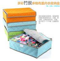 5pcs/lotBamboo multi covered underwear box thickened size bra underwear socks accommodation