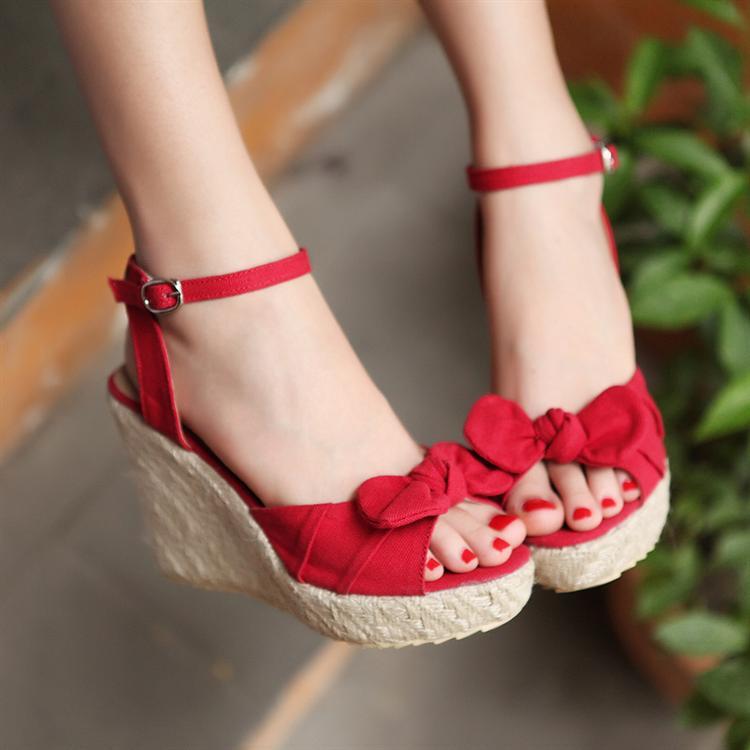 White Wedding Shoes Wedges
