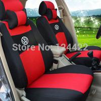 Seat Cover For Volkswagen Polo Jetta Bora Santana Vista Lavida Golf full universal seat covers car styling New+logo+gift set bed