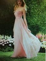 Off The Shoulder Sweetheart Bridesmaid Dresses Custom Made Pleat Chiffon Floor Length Sleeveless Bridesmaid Dresses 2014