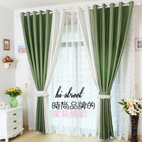 Flower modern brief colorant match curtain shalian fabric high-quality for bedding room living room cortinas tulle Free shipping