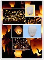 10pcs Chinese Lanterns Fire Sky Fly Candle Lamp for Birthday Wish Party Wedding