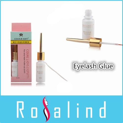Rosalind 2014 New FreeShipping Eyelash Glue white Clear Adhesive False Eyelash Glue For Professional(China (Mainland))