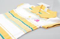New arrival summer baby girls Short  striped yellow & w sport dress  size 4 6 8 10 12 14