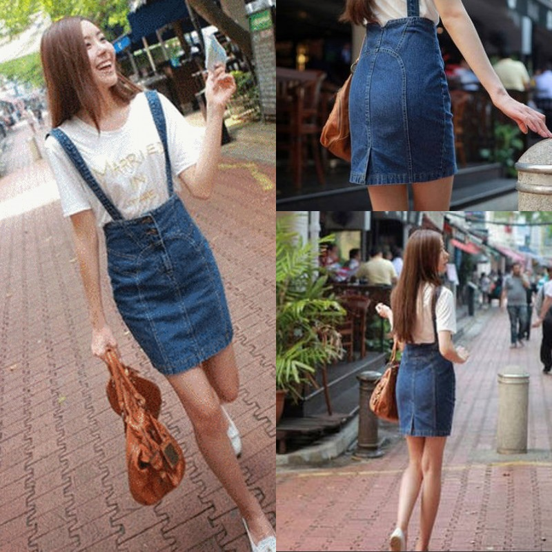 Colored denim skirts knee length – Modern skirts blog for you