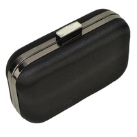European Star Product !  Black and Silver Color Silk Material Top Quality Women Clutch Evening Bags Free Shipping  CB061