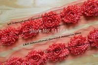"Free ePacket/CPAP 2.5"" shabby chiffon rose flower trim,shabby frayed fabric hair flower,20pcs/lot"