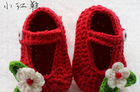 2014 new Sven cute baby boy/girl Sandals exclusive custom models of Flowers Shoes red color free shipping