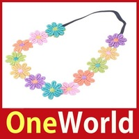 OneWorld Baby Girl Cute Headdress Princess Lace Flower Hair Band Sets Elasticity Headband Hot