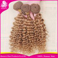 Brazilian deep wave virgin hair cheap brazilian curly virgin hair extensions 3pcs lot free shipping 27# brazilian deep wave