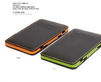 Wholesale hot sale Korean Style fashion men slim short small magic wallet gents purse carteira masculina couro free shipping