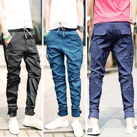 Free shipping New Korea Men's Baggy Cargo Harem Pants Men Jeans overalls casual Trousers 3 colors available Size M L XL XXL