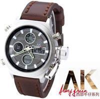 2014 New Fashion LCD Digital Men Sport Watches Men Military Watches Metal Genuine Leather Bracelet Wristwatch ML0012