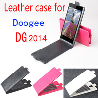 High Quality Vertical Flip PU Leather Case For Doogee Turbo DG2014 Cover Black White Rose Freeshipping