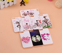 Special Offer Free Shipping Fashion Girl in Flower Hard Back Cover Skin Case for iphone 5 5s