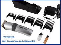 waterproof rechargeble hair trimmer beard hair clipper electric barber tools hair cut personl care set free shipping
